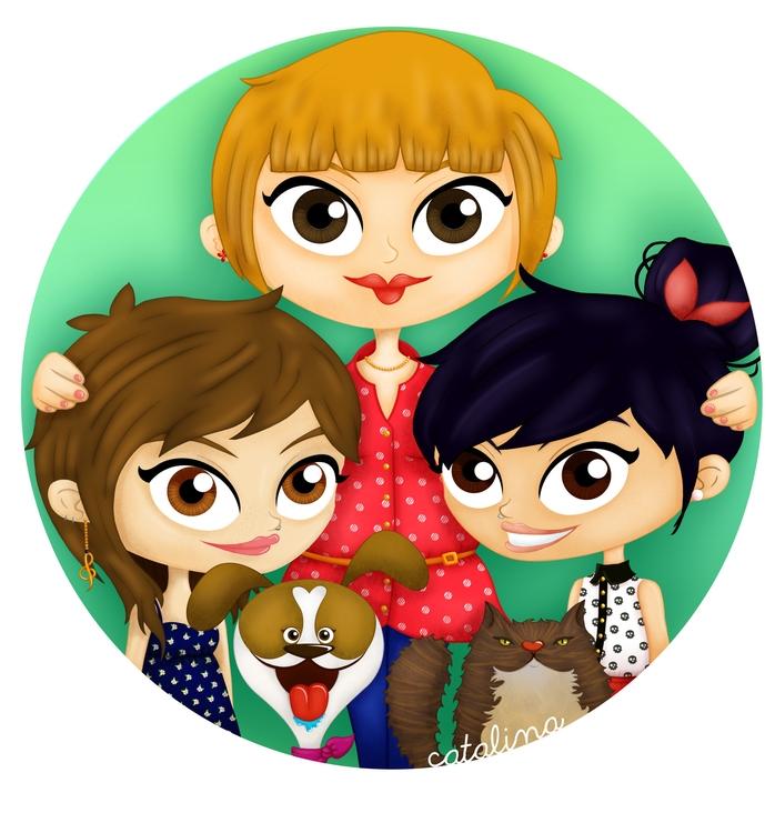ilustration, photoshop, family - cata-6174   ello