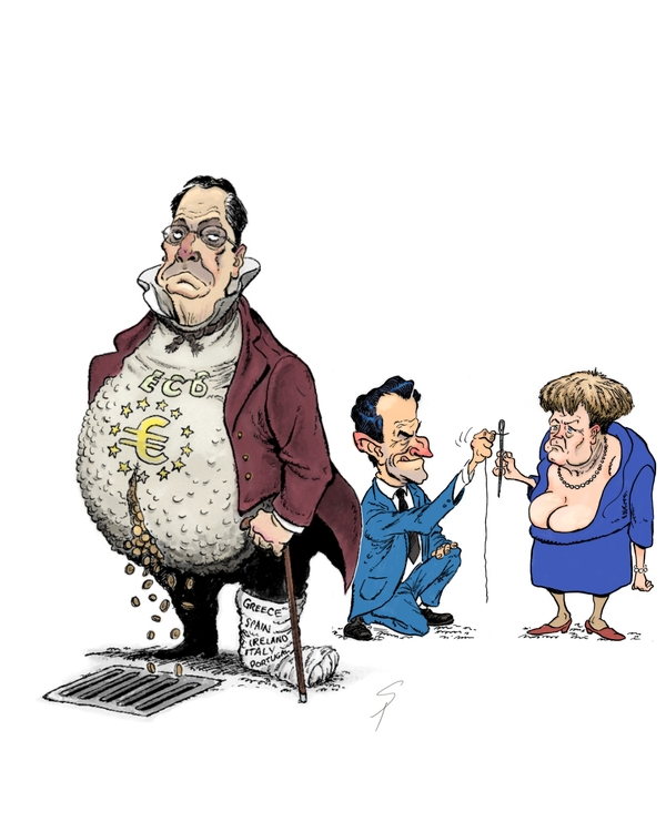 ECB suffering gout. Sarkozy Mer - yazzum | ello