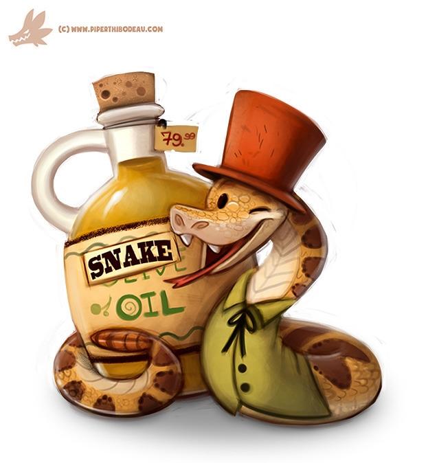 Daily Paint Snake Oil Salesman - piperthibodeau | ello