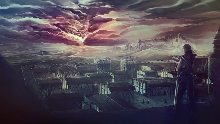 Doomed City - fantasyart, environment - jporta | ello
