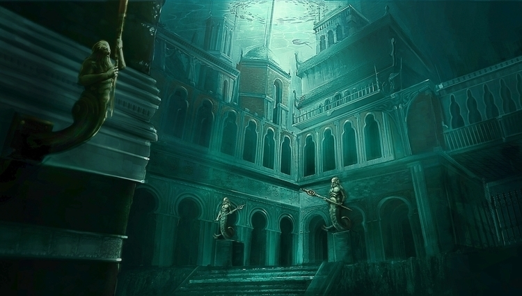 underwater City - Underwater, Fantasyart - jporta | ello
