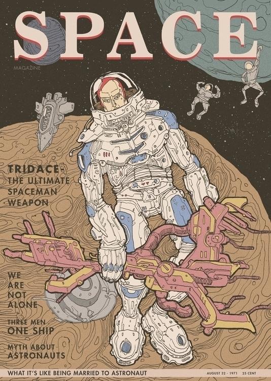 Space man - space, spaceman, illustration - xuanquyen | ello