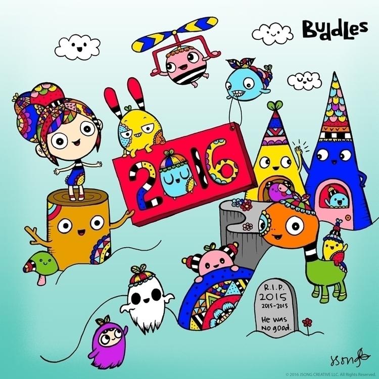 illustration, colorful, penink - buddles | ello