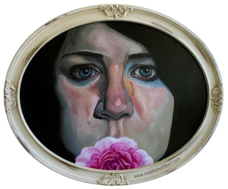 Hush Oil Wood - portrait, woman - maddiehud | ello
