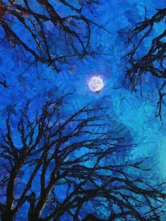 Du Riechst Gut - trees, painting - evilskills | ello
