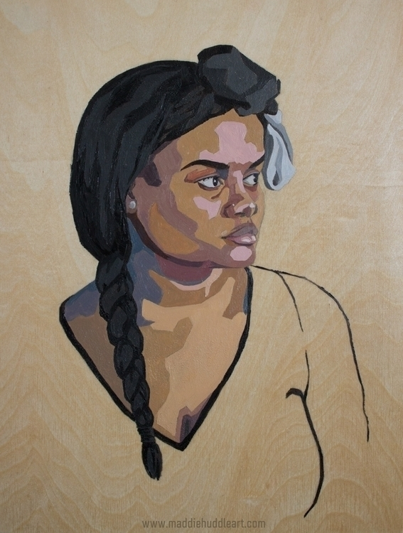 Chroma 4 Oil Wood - painting, portrait - maddiehud | ello