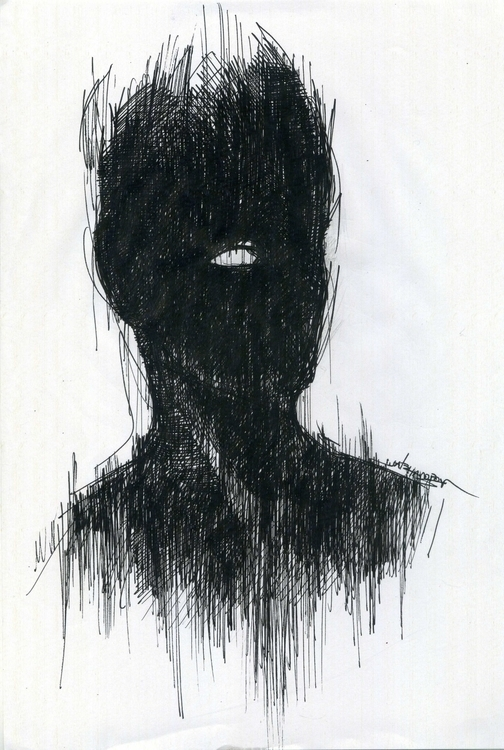 Black portrait 21x29,7cm Ink pa - giorgoschatziagorou | ello