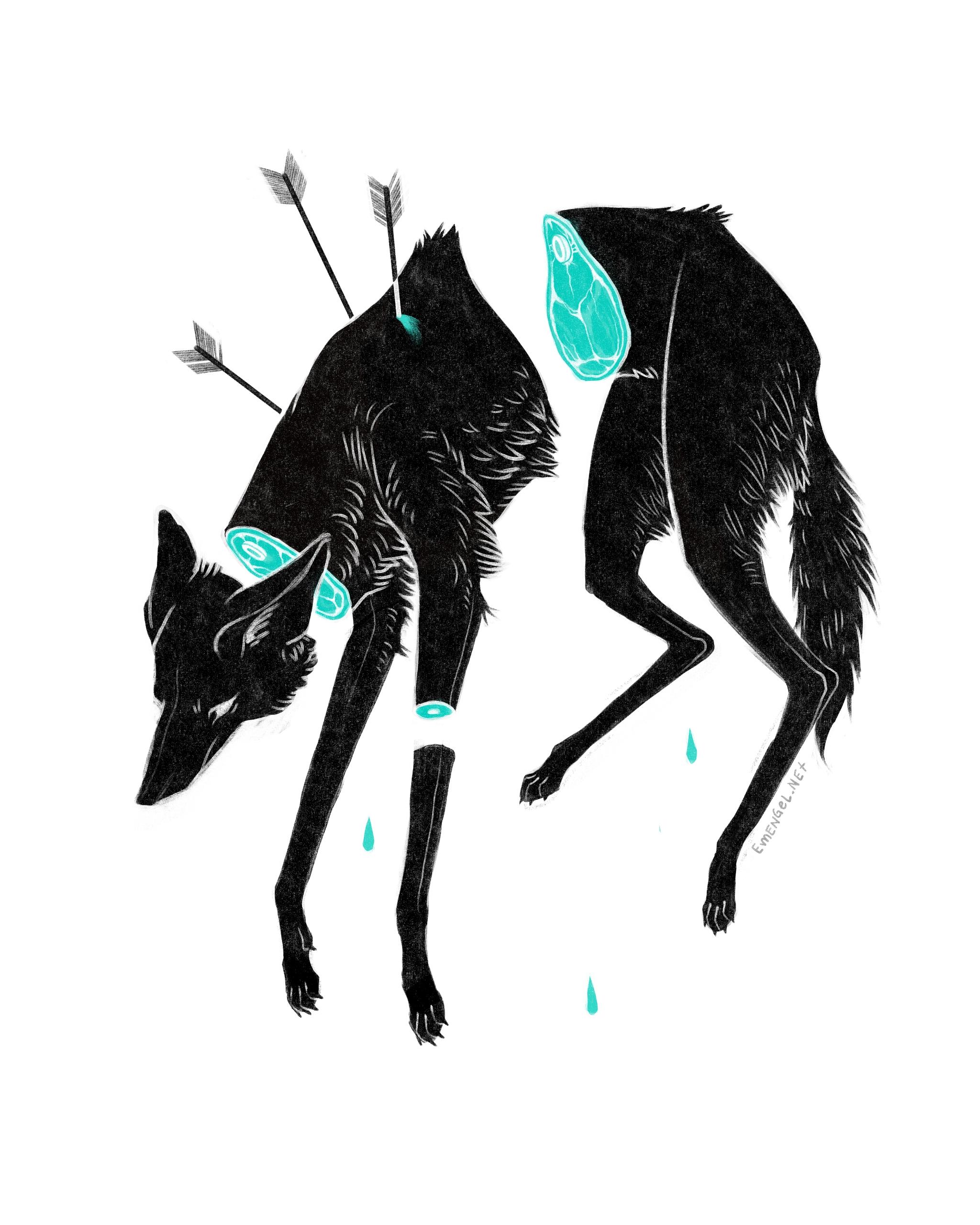 Severed - wolf, manedwolf, arrows - emengel | ello
