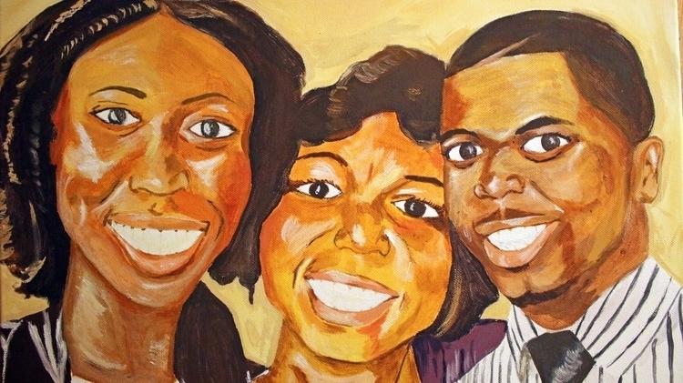 Group painting, acrylic canvas - emetzger | ello