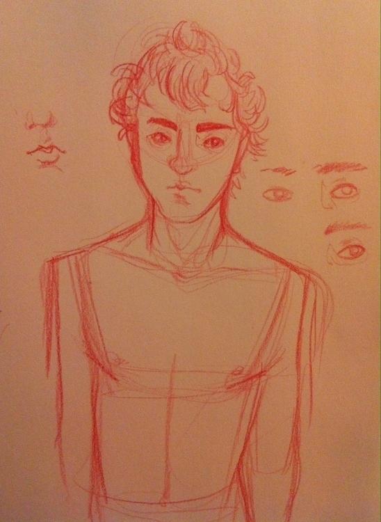 Spiky hair - darn, eyes - characterdesign - clarisse-1174   ello