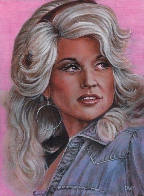 Dolly - Painting, DollyParton - dwfrydendall | ello