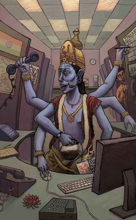 Vishnu. Photoshop - photoshop, drawing - h3ctor91 | ello