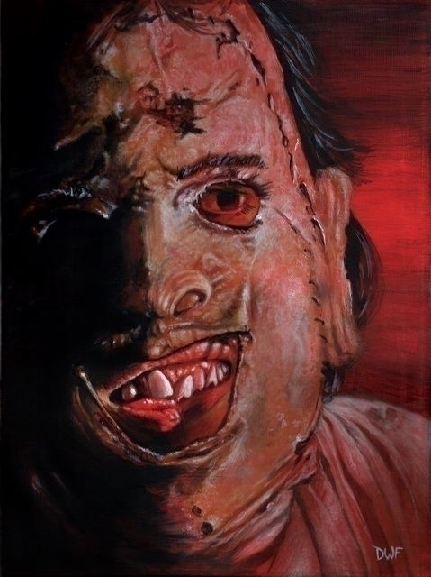 Leatherface - Painting, horror, leatherface - dwfrydendall | ello