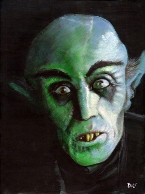 Nosferatu - painting, horror, vampire - dwfrydendall   ello