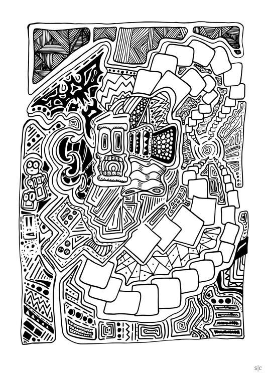 sketchbook illustration fine-li - stephencunniffe | ello