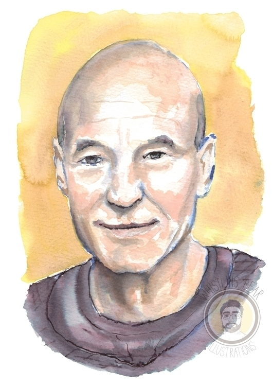 Patrick Stewart fan piece water - whistlingbear | ello