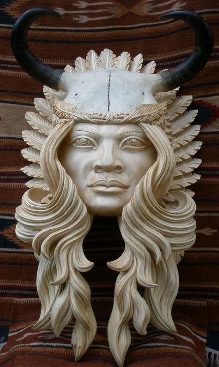 Indian woman - sculpture, woodcarving - oleggetmanchuk | ello