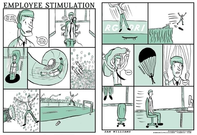 Comic - comic, illustration, dippen - samuelcwilliams | ello