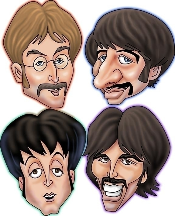 Beatles Caricature - illustration - rossger | ello