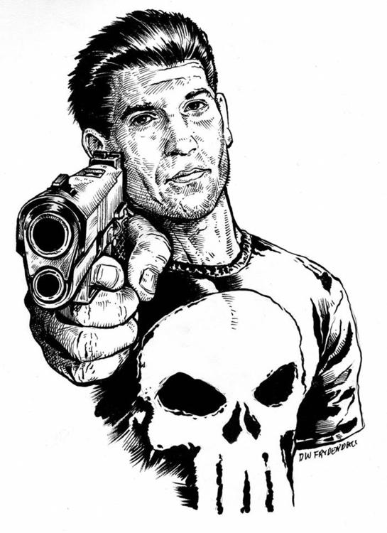 Punisher - penink, illustration - dwfrydendall   ello