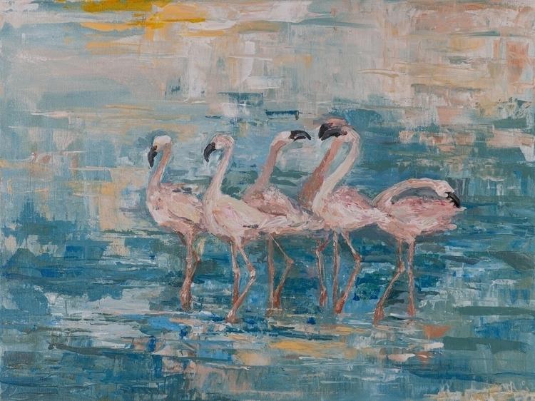 Flamingo 60x80 Oil canvas. 2014 - tanya_vasilenko | ello