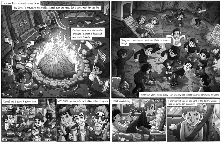 illustration, graphicnovel, baruchinbar - baruchinbar   ello