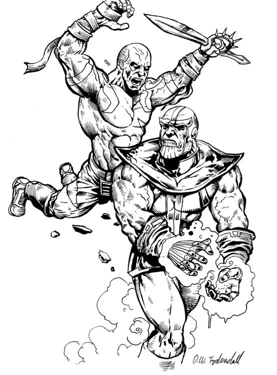 Thanos Drax - marvel, drax, guardiansofthegalaxy - dwfrydendall   ello