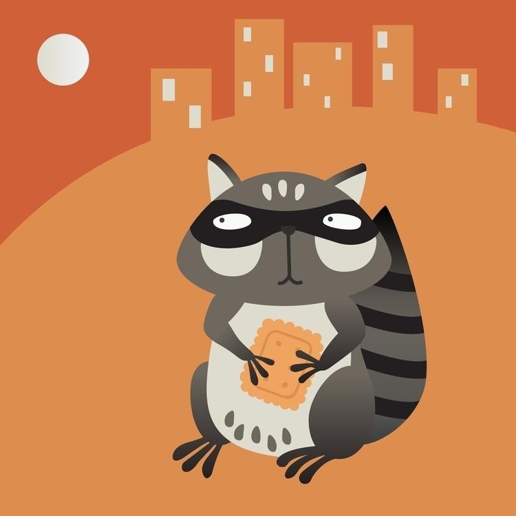 Raccoon - illustration, children'sillustration - prianikn   ello