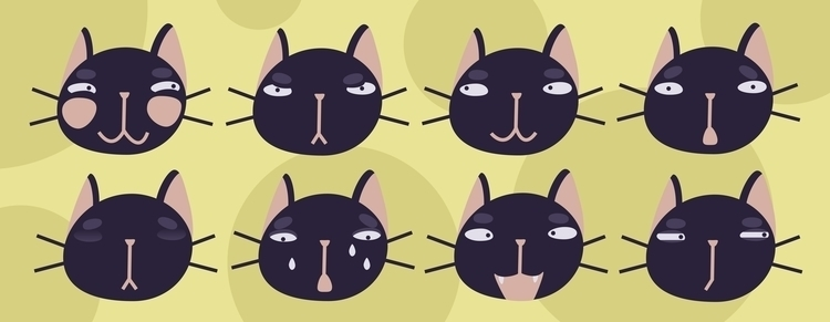 emotions - cat, emotion, characterdesign - prianikn | ello