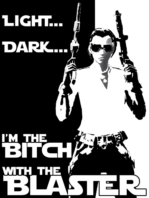 Light... Dark... Bitch Blaster  - crysodenkirk | ello