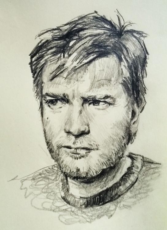 Ewan McGregor - portrait, pencil - prianikn   ello