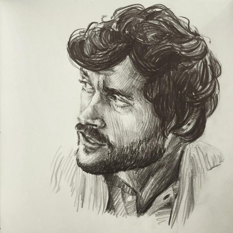 Hugh Dancy - portrait, pencil, pencildrawing - prianikn | ello