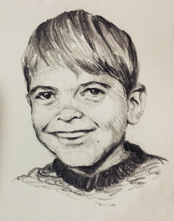 Young George Clooney - portrait - prianikn | ello