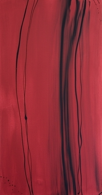 Untitled (Red - painting, acrylic - garrettlawson | ello