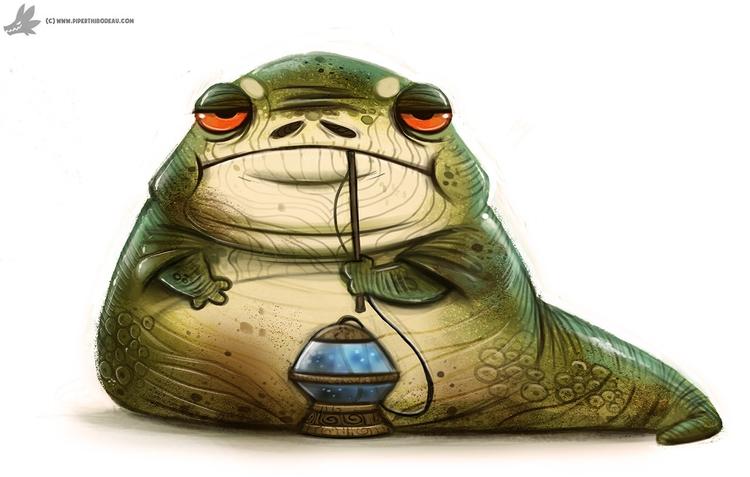 Day 797. Jabba Hutt - piperthibodeau | ello
