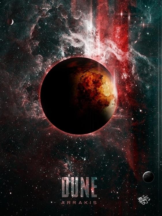 Dune Planet Arrakis film poster - barrettbiggers | ello