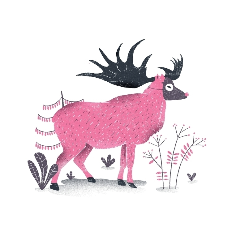 Elk - illustration, illustrator - rfortes | ello