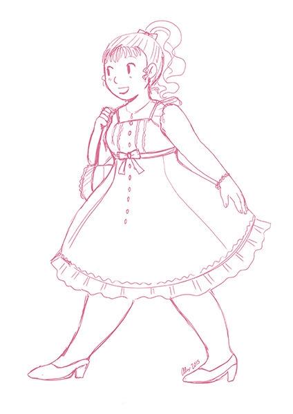 girl, fashion, dress, cute, doodles - alexandrasketch | ello