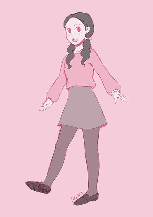 girl, cute, fashion, doodles - alexandrasketch | ello