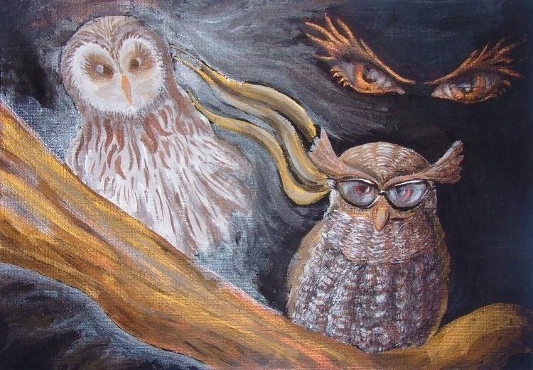 Wisdom Muse acrylic canvas. Siz - aiakira   ello