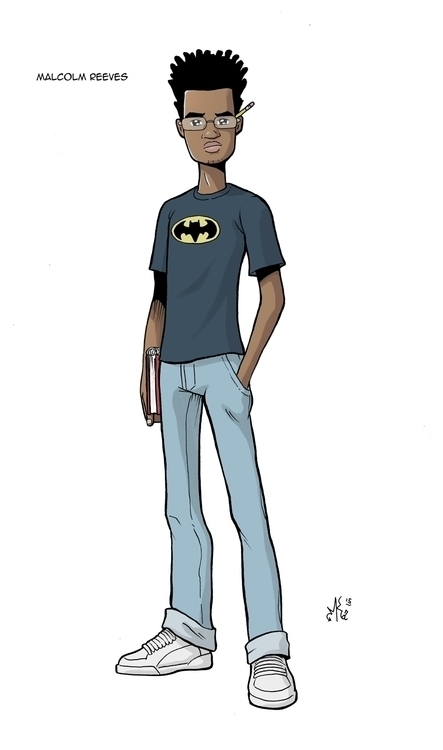 Malcolm Reeves - characterdesign - marcuskwame | ello