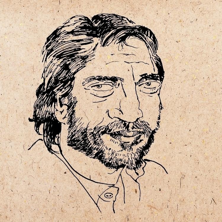 Javier Bardem - ink, portrait, graphic - prianikn   ello