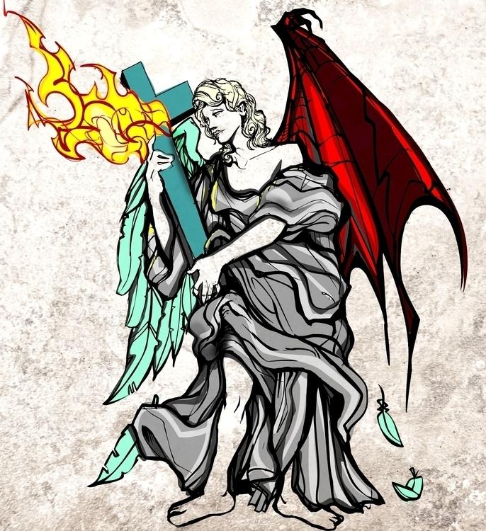 duplicitous - angel, wings - jeremieduval | ello