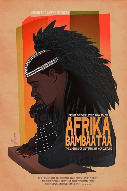 Afrika Bambatta - illustration, characterdesign - dedos-1276 | ello