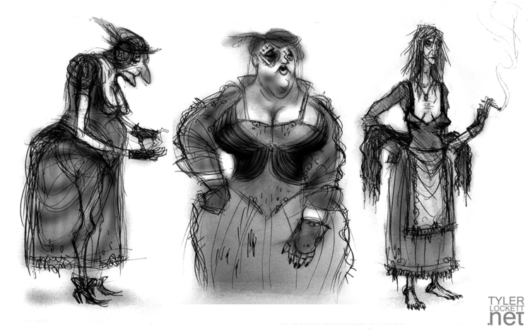 characterdesign, conceptart, gameart - tylerlockett | ello