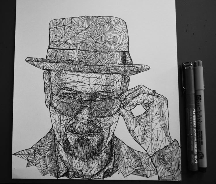Heisenberg triangulation - traditionalart - eliasmadan | ello