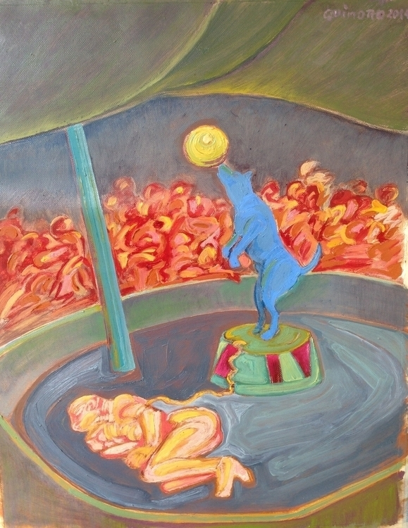 Circo-nstancia. Oil. canvas pap - quinoro | ello