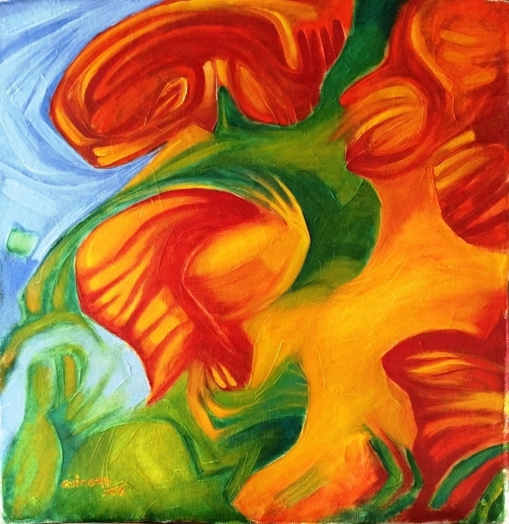 Veraneando Oil canvas. 2016 - painting - quinoro | ello