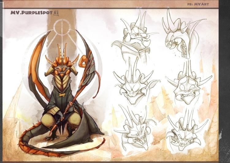 Muturum, demon dragon - characterdesign - mvpurplespot | ello