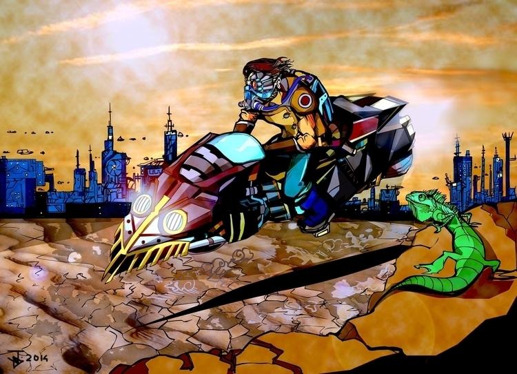 Steel Punx ride - sci-fi, lizard - jeremieduval | ello